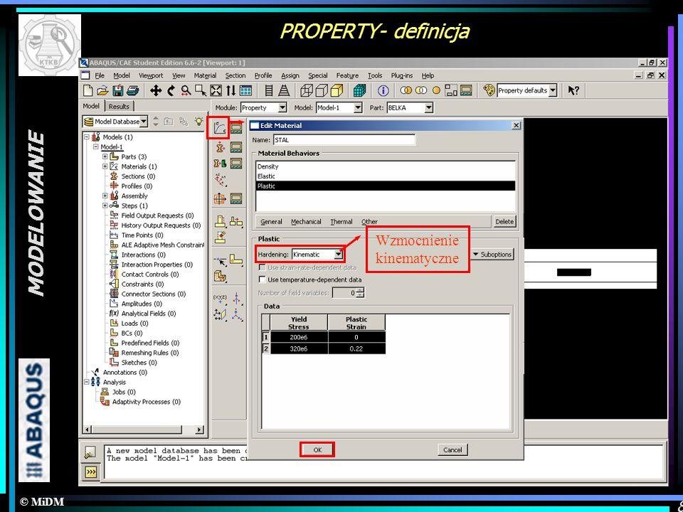 PROPERTY- definicja MODELOWANIE Definicja materiału