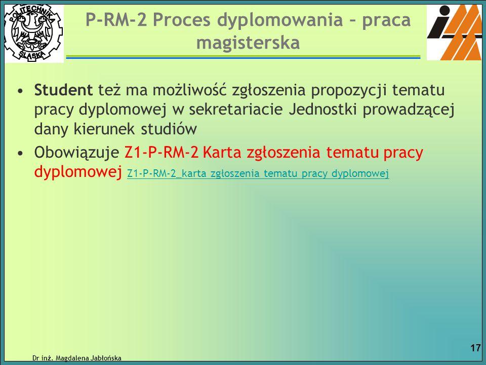 P-RM-2 Proces dyplomowania – praca magisterska