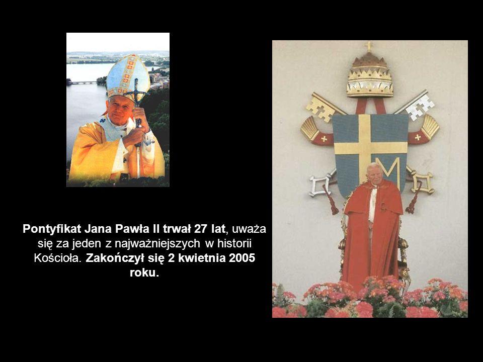 Pontyfikat Jana Pawła II trwał 27 lat, uważa się za jeden z najważniejszych w historii Kościoła.