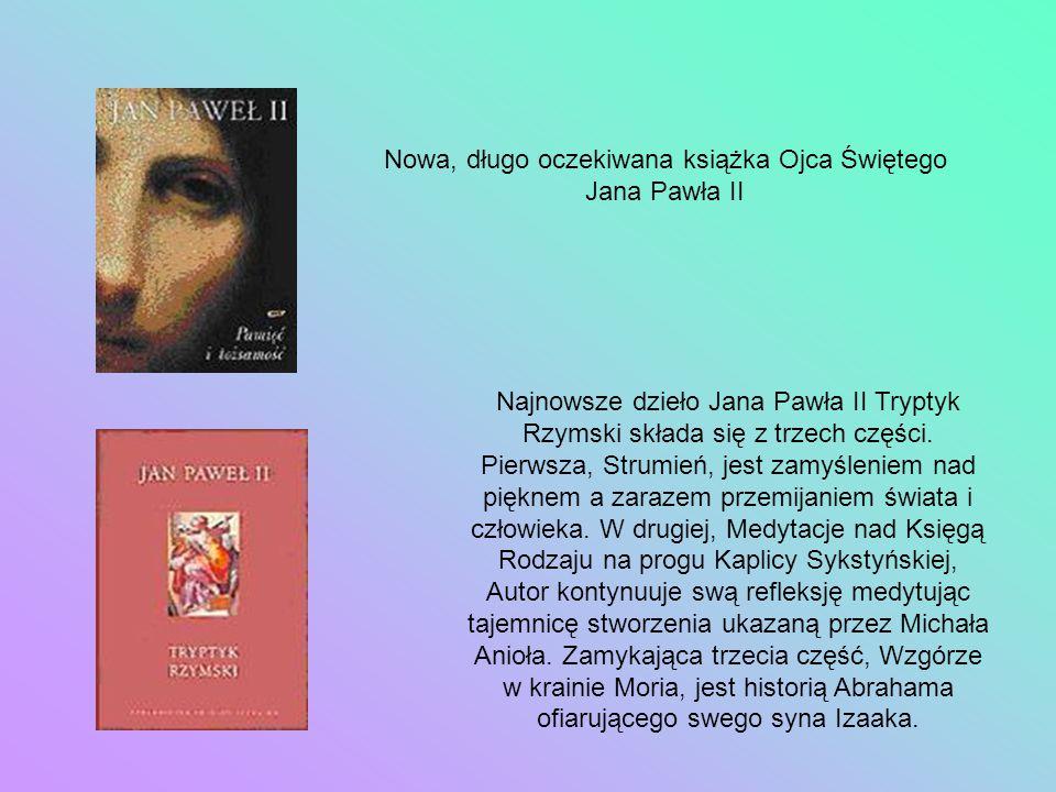 Nowa, długo oczekiwana książka Ojca Świętego Jana Pawła II
