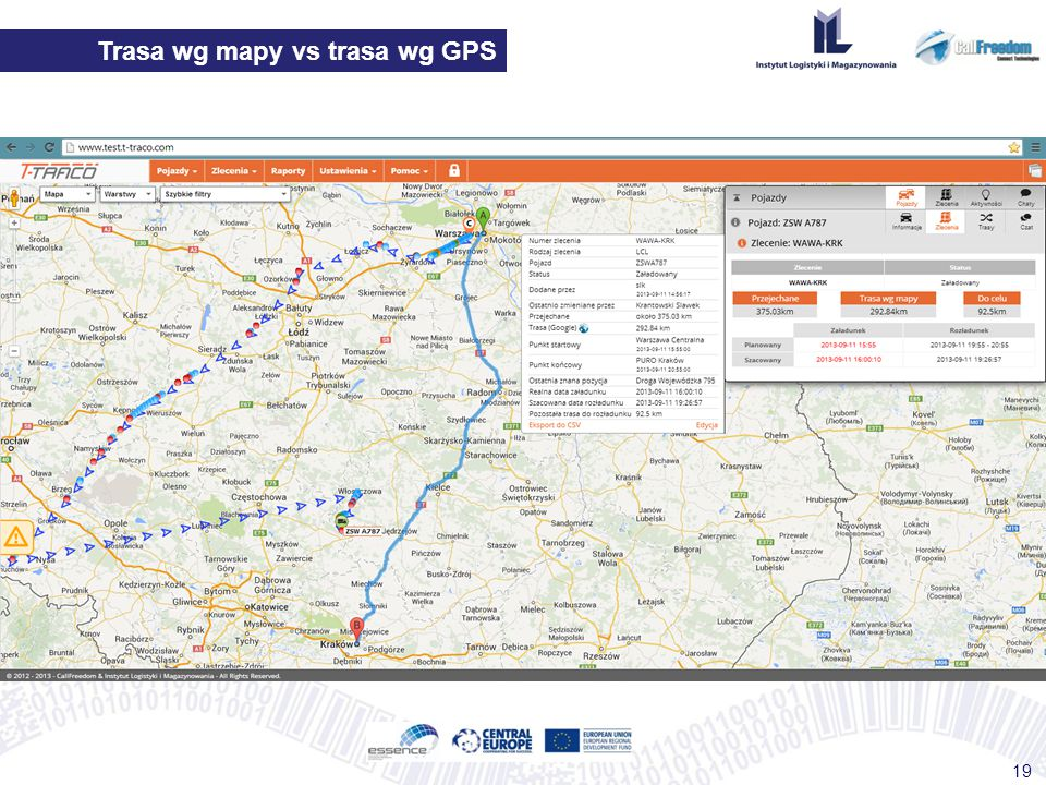 Trasa wg mapy vs trasa wg GPS