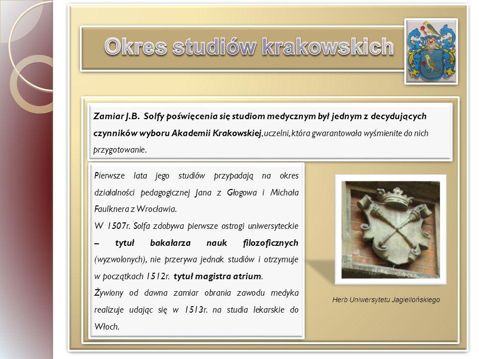 Okres studiów krakowskich