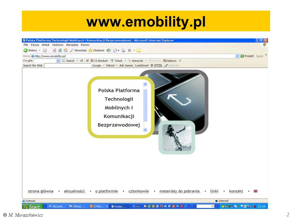 www.emobility.pl  M. Muraszkiewicz