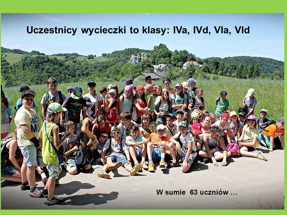 Uczestnicy wycieczki to klasy: IVa, IVd, VIa, VId
