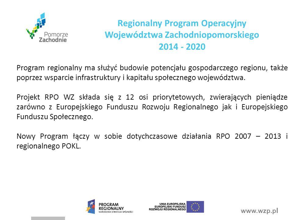 Regionalny Program Operacyjny Województwa Zachodniopomorskiego 2014 - 2020