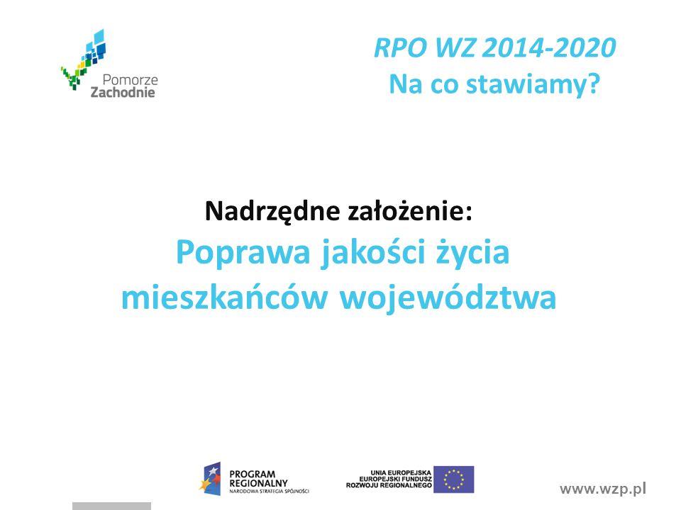 Poprawa jakości życia mieszkańców województwa