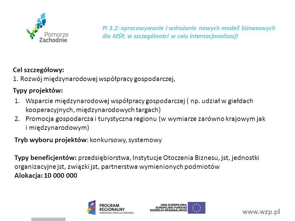 1. Rozwój międzynarodowej współpracy gospodarczej,