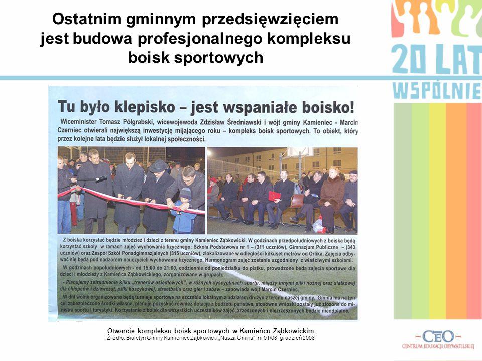 Otwarcie kompleksu boisk sportowych w Kamieńcu Ząbkowickim