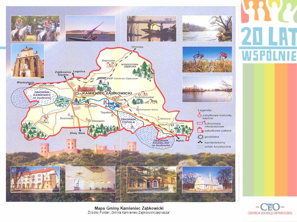 Mapa Gminy Kamieniec Ząbkowicki