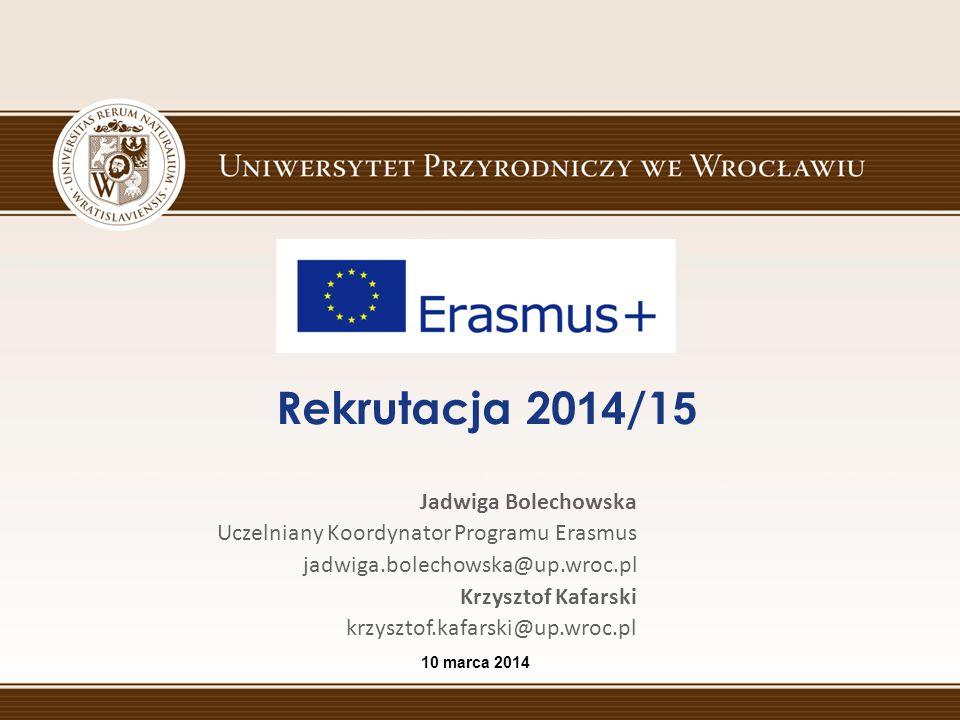 Rekrutacja 2014/15 Jadwiga Bolechowska