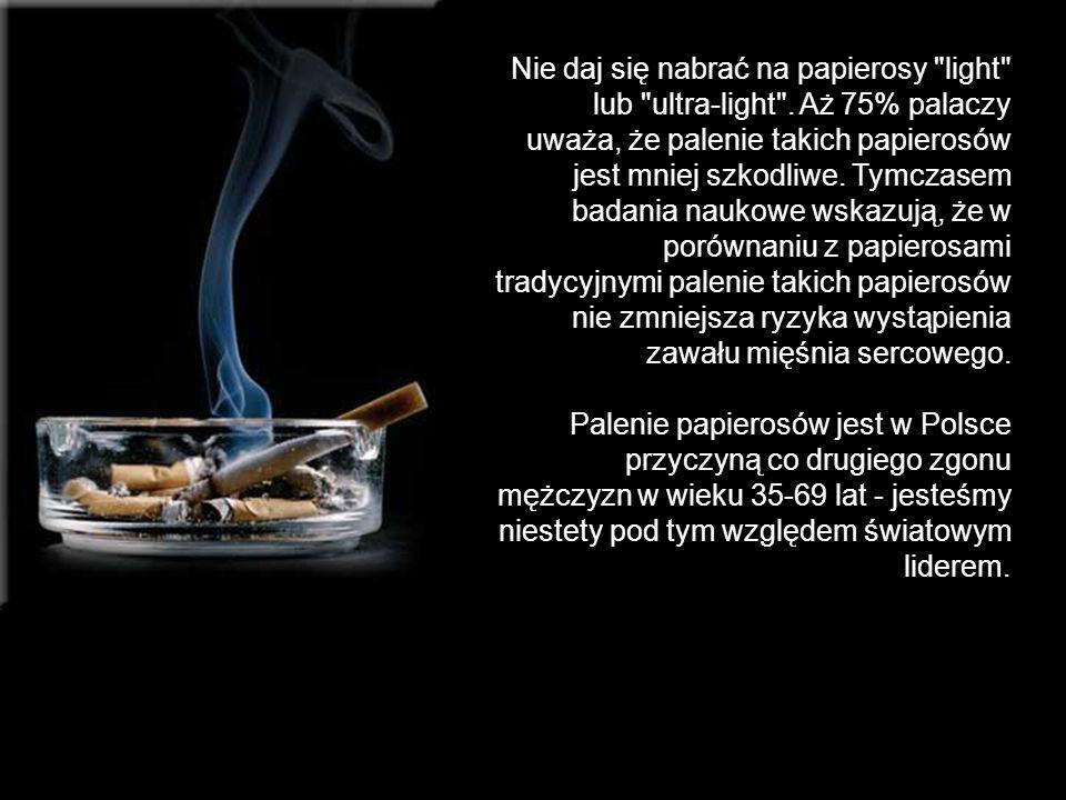 Nie daj się nabrać na papierosy light lub ultra-light