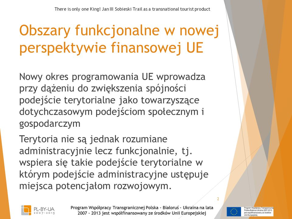 Obszary funkcjonalne w nowej perspektywie finansowej UE