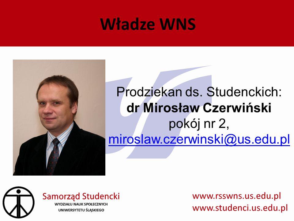 Władze WNS Prodziekan ds. Studenckich: