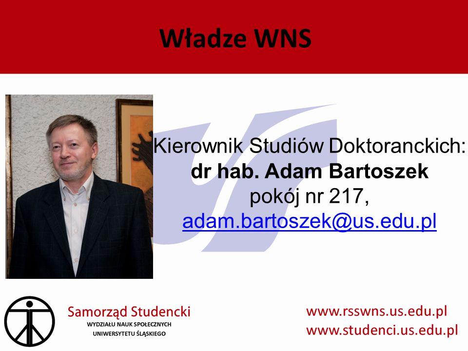 Władze WNS Kierownik Studiów Doktoranckich: