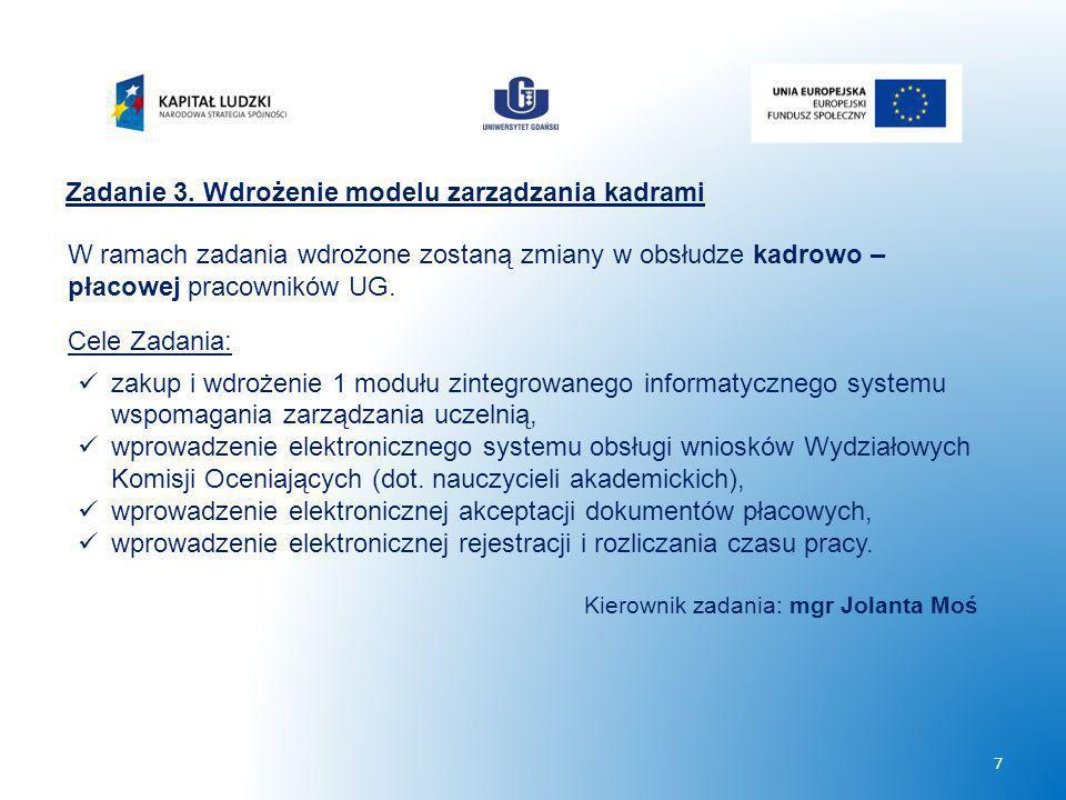 Zadanie 3. Wdrożenie modelu zarządzania kadrami