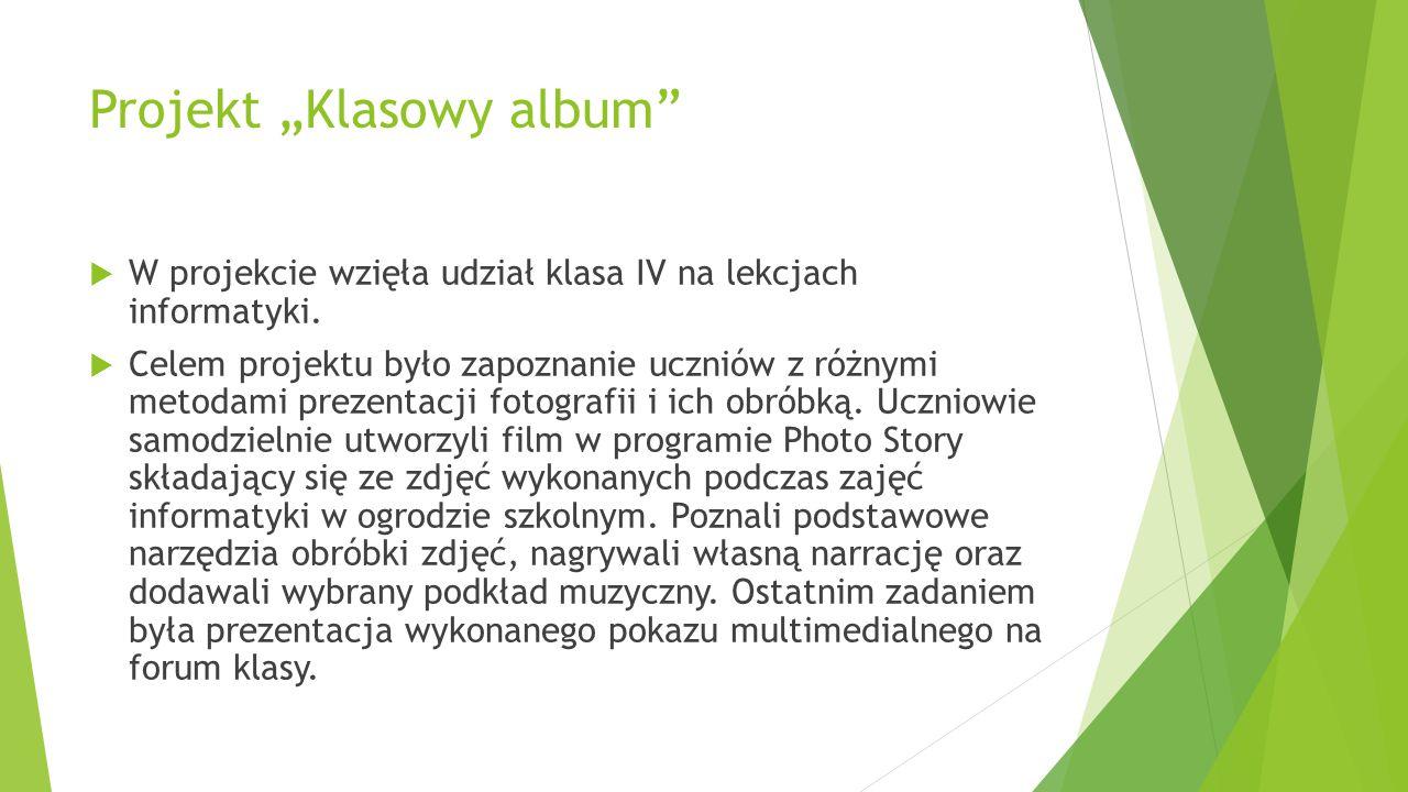 "Projekt ""Klasowy album"