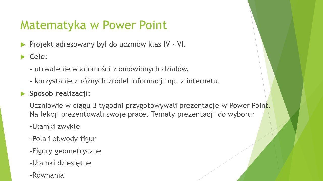 Matematyka w Power Point
