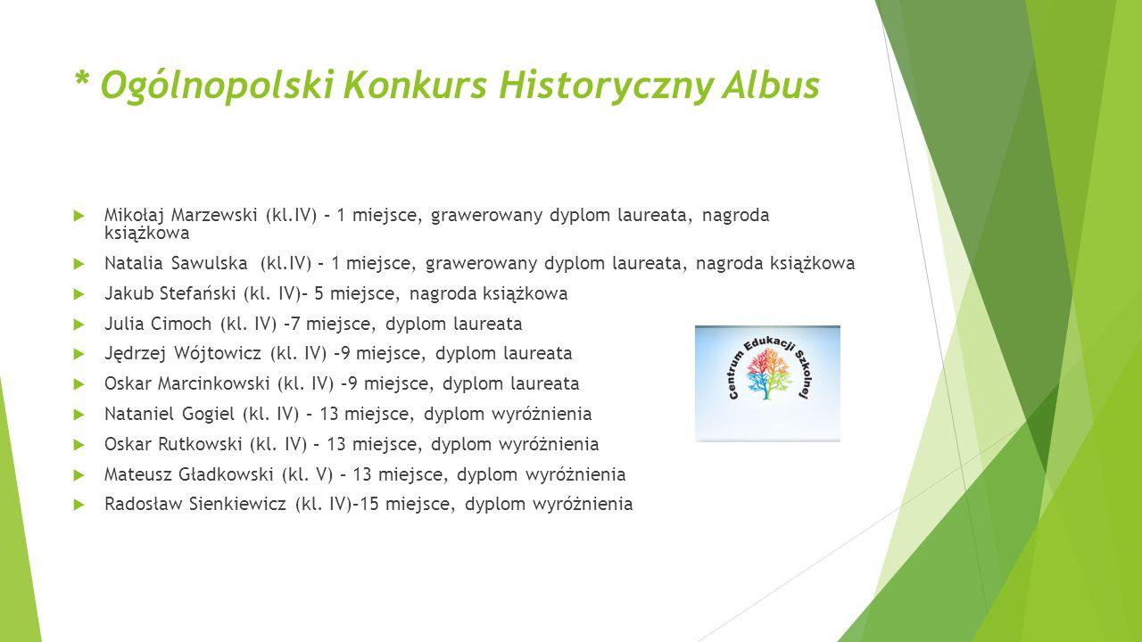 * Ogólnopolski Konkurs Historyczny Albus