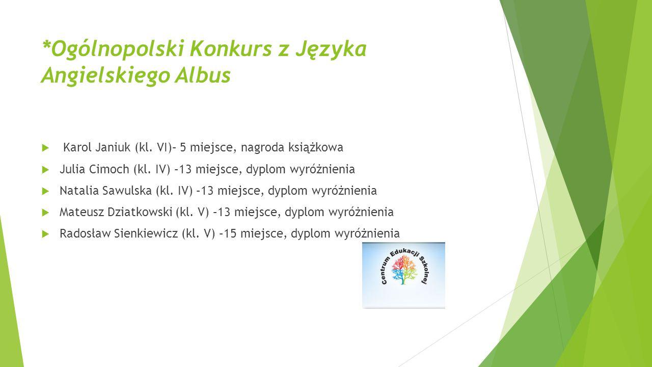 *Ogólnopolski Konkurs z Języka Angielskiego Albus