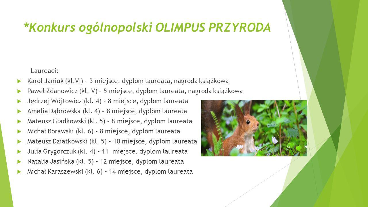*Konkurs ogólnopolski OLIMPUS PRZYRODA