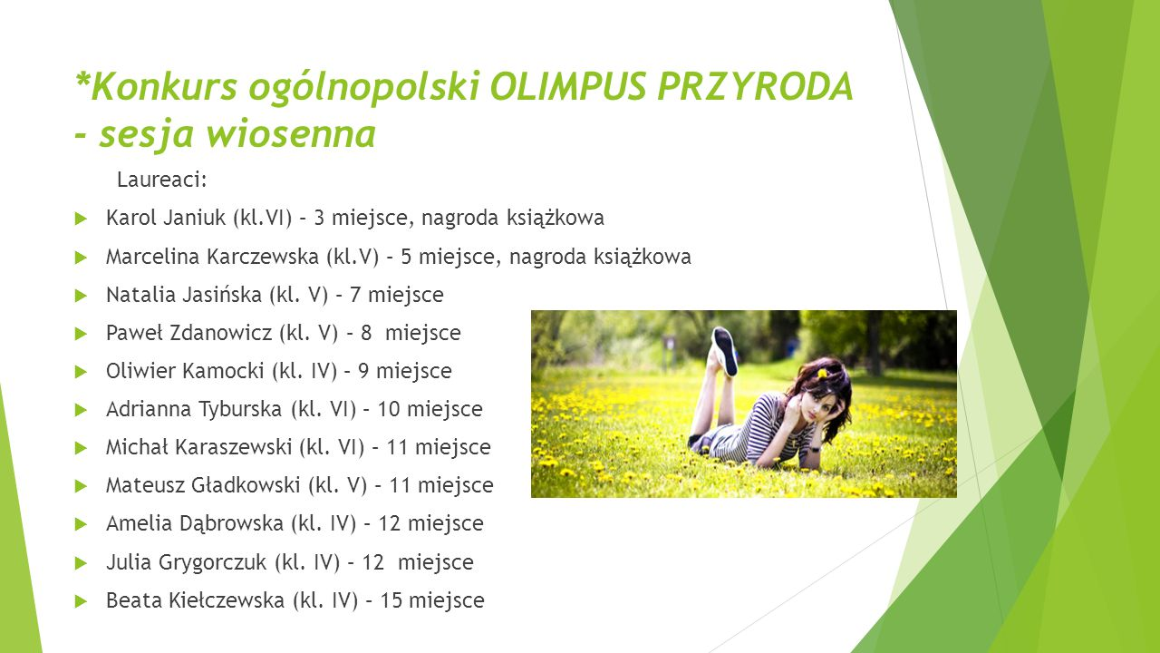 *Konkurs ogólnopolski OLIMPUS PRZYRODA - sesja wiosenna