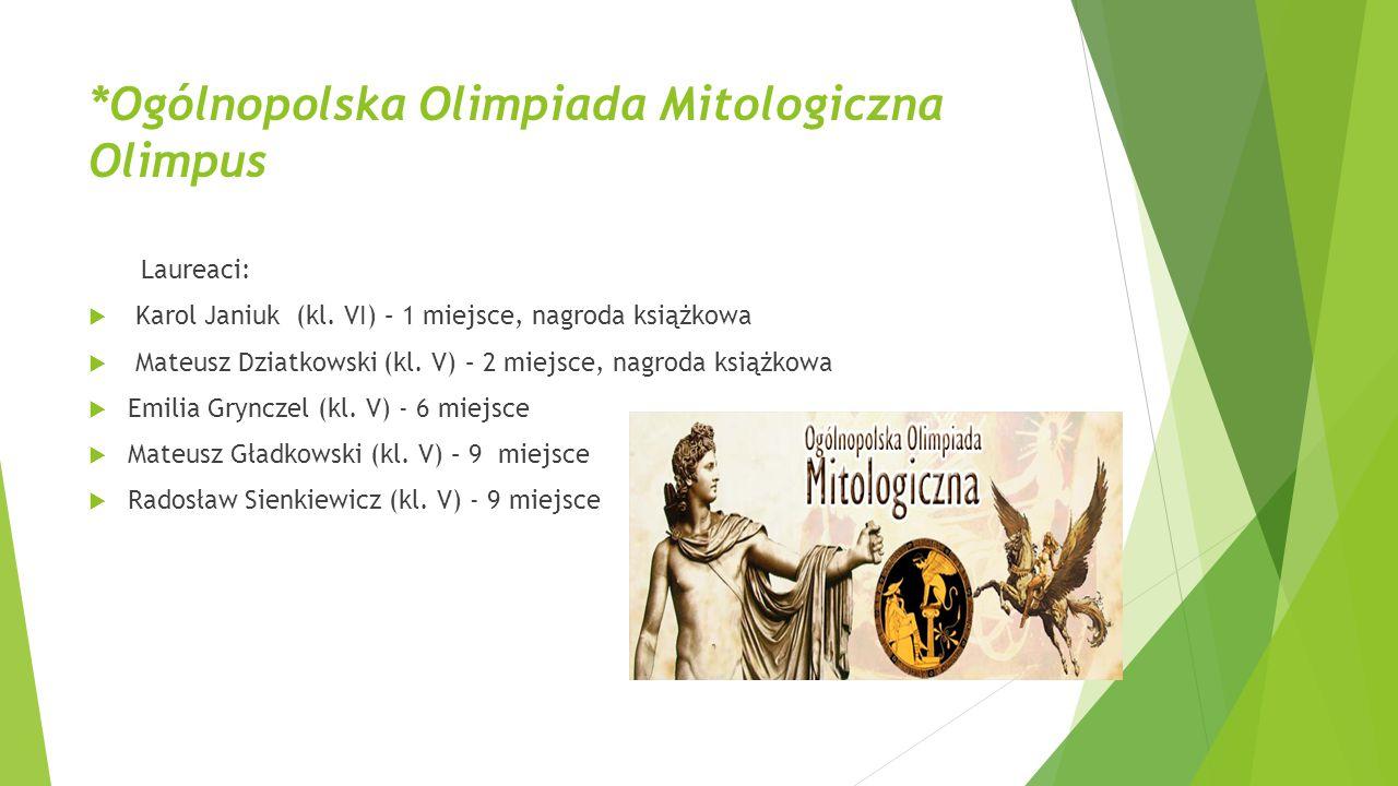 *Ogólnopolska Olimpiada Mitologiczna Olimpus