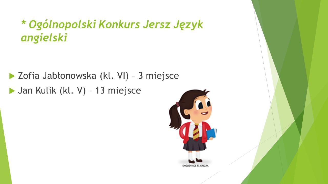 * Ogólnopolski Konkurs Jersz Język angielski