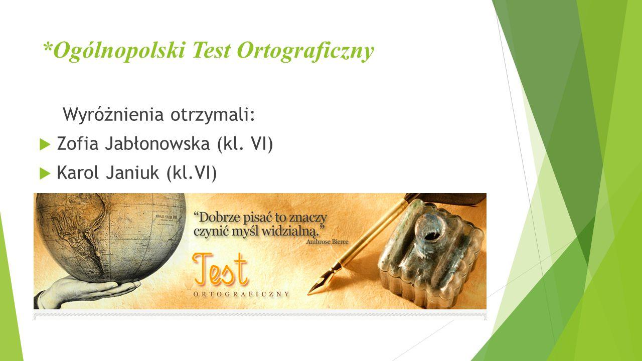 *Ogólnopolski Test Ortograficzny