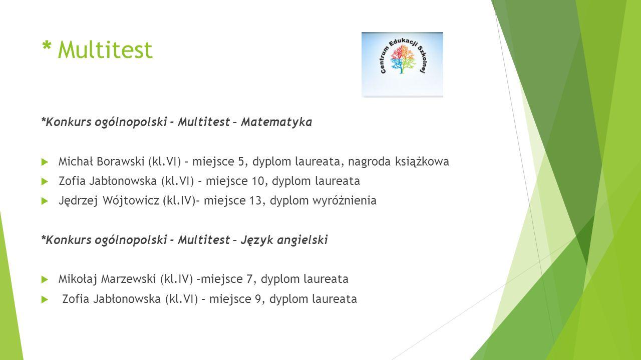 * Multitest *Konkurs ogólnopolski - Multitest – Matematyka