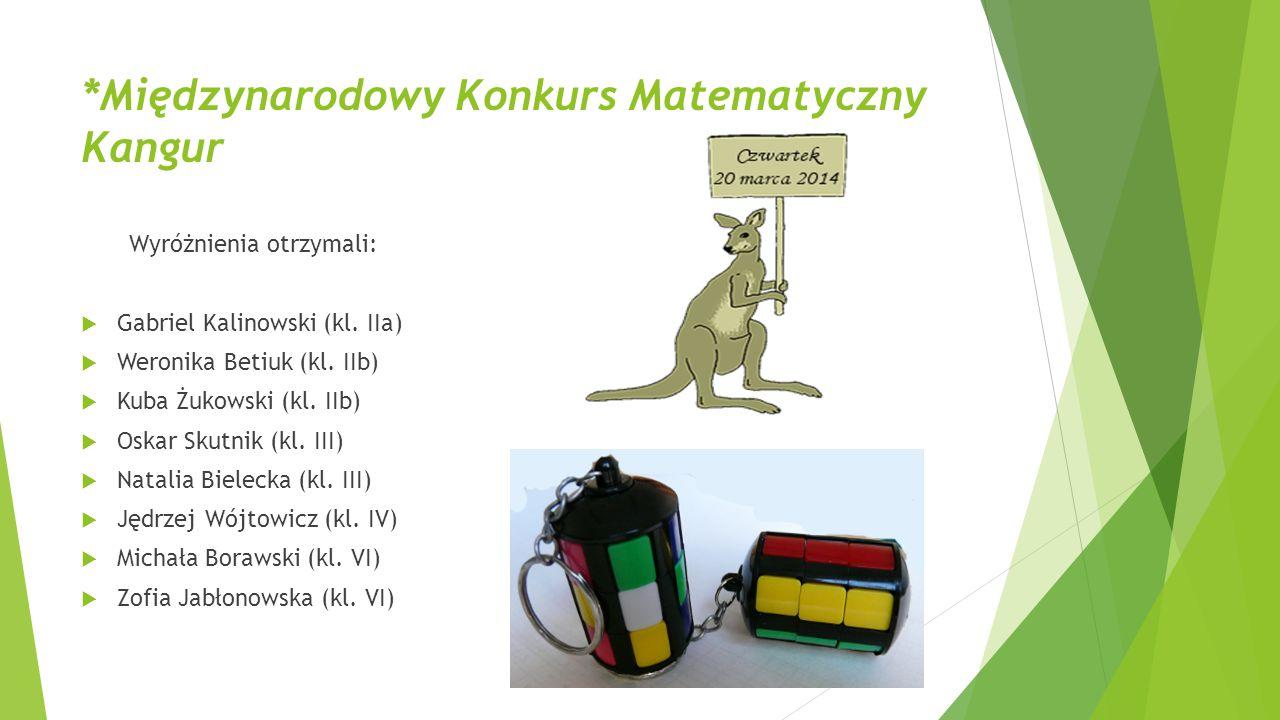 *Międzynarodowy Konkurs Matematyczny Kangur