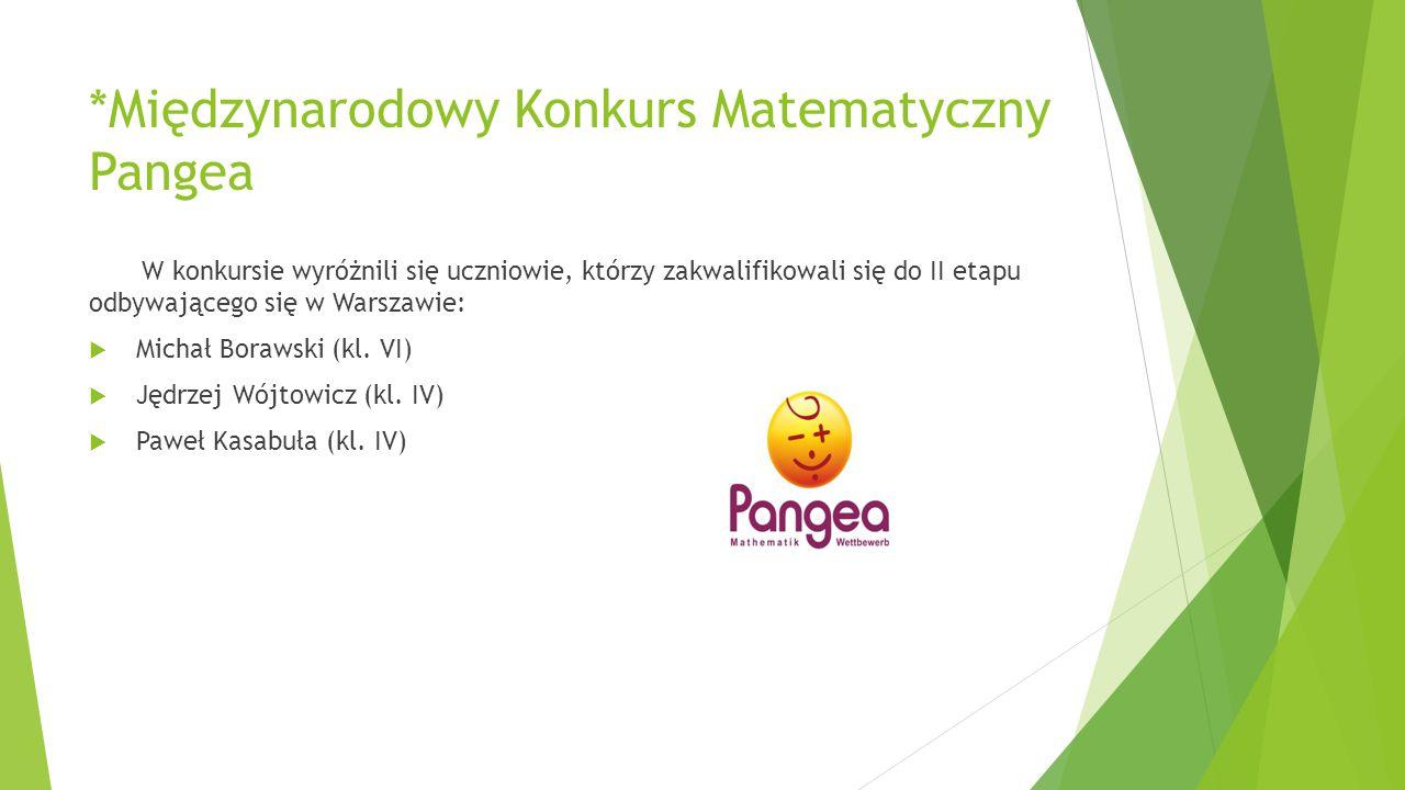 *Międzynarodowy Konkurs Matematyczny Pangea