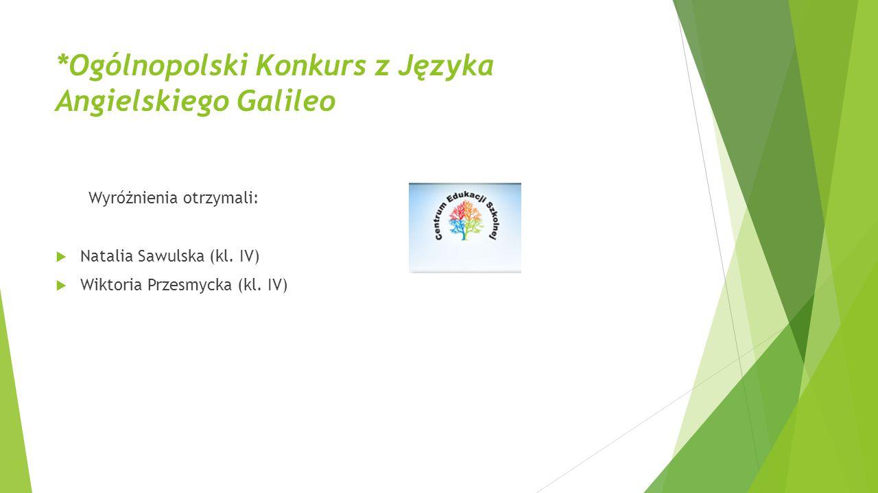 *Ogólnopolski Konkurs z Języka Angielskiego Galileo