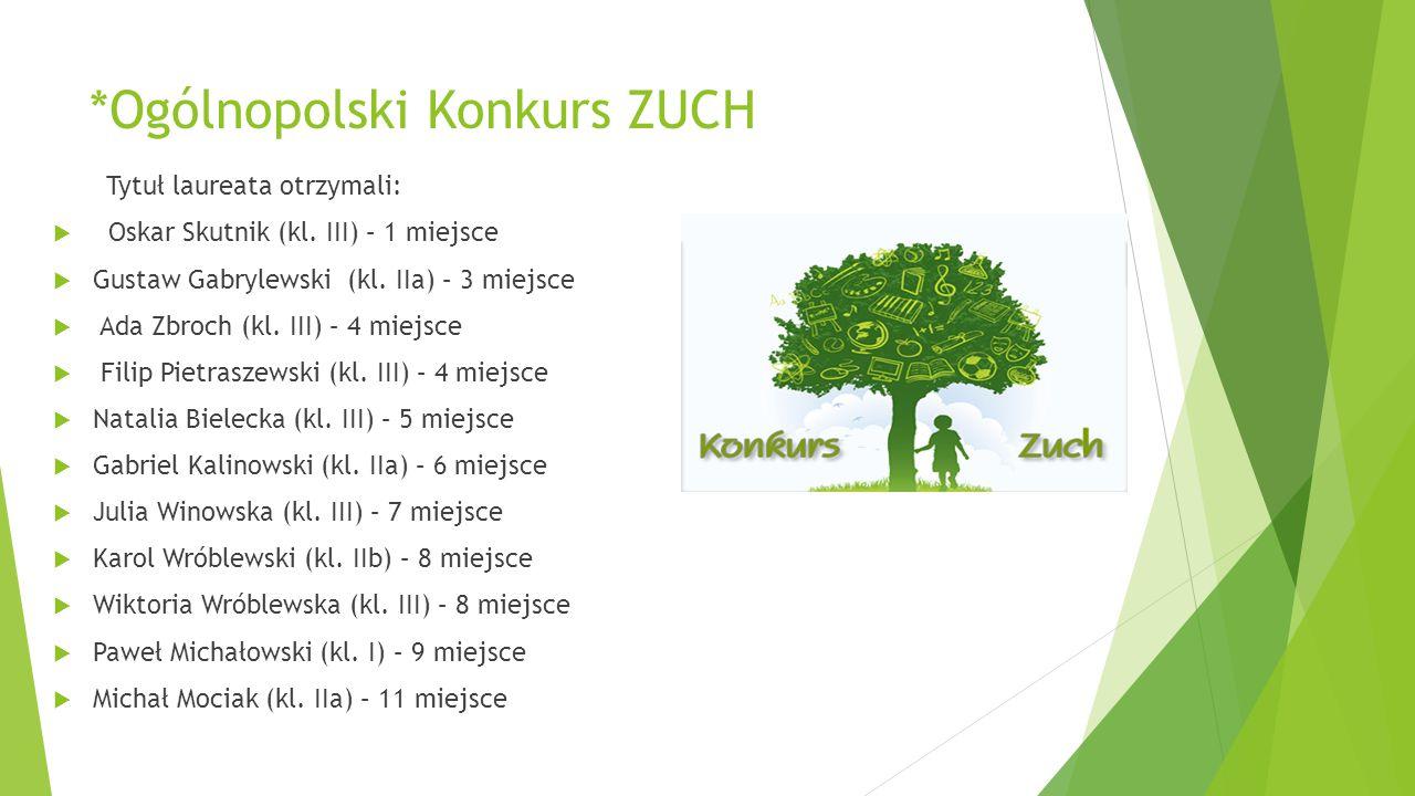 *Ogólnopolski Konkurs ZUCH