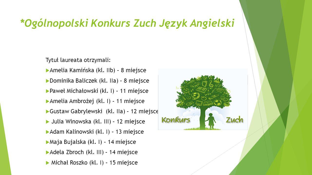 *Ogólnopolski Konkurs Zuch Język Angielski