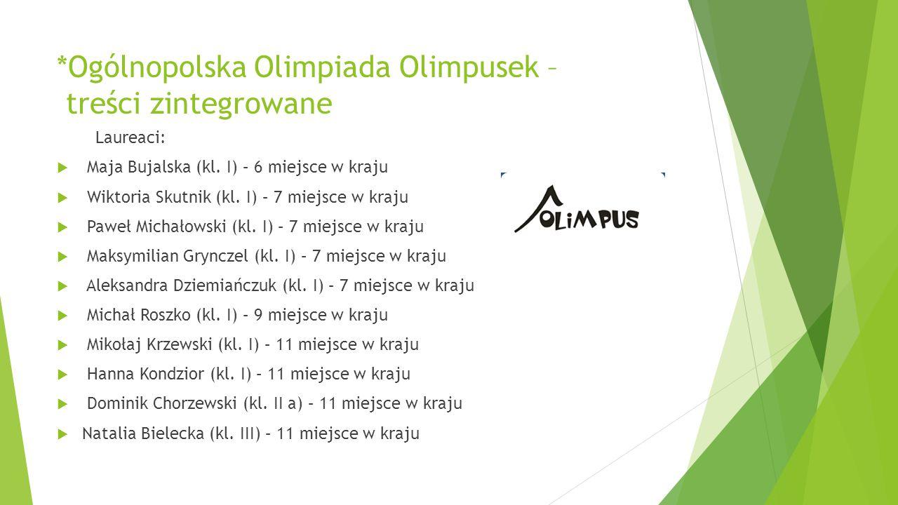 *Ogólnopolska Olimpiada Olimpusek – treści zintegrowane