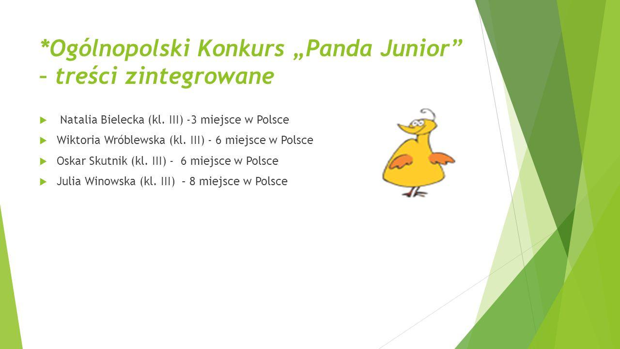 "*Ogólnopolski Konkurs ""Panda Junior – treści zintegrowane"