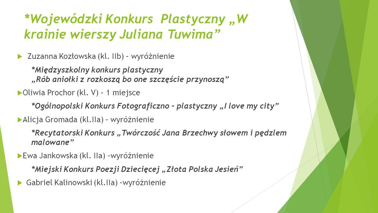 """*Wojewódzki Konkurs Plastyczny """"W krainie wierszy Juliana Tuwima"""