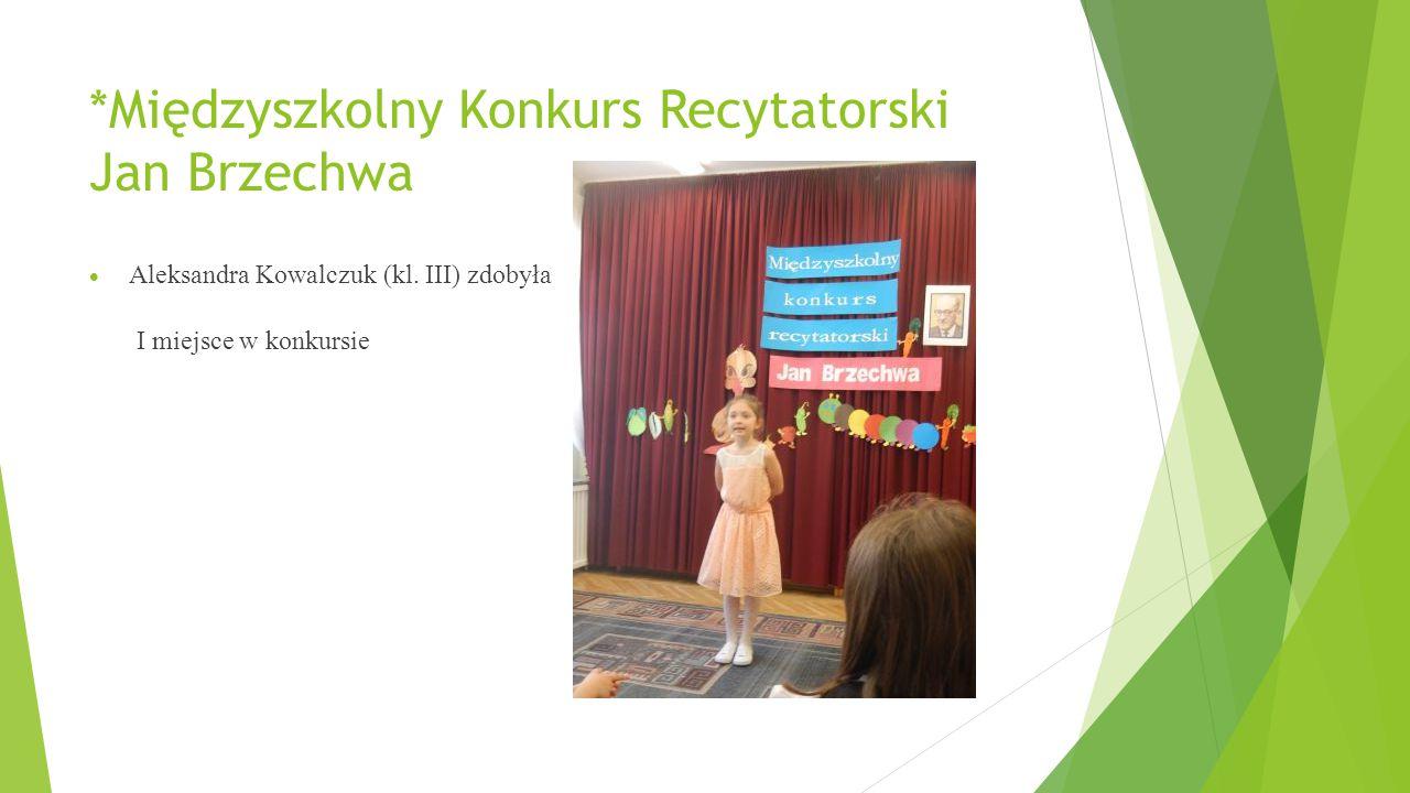 *Międzyszkolny Konkurs Recytatorski Jan Brzechwa