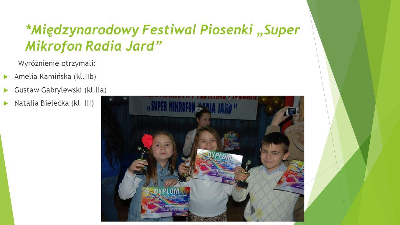 """*Międzynarodowy Festiwal Piosenki """"Super Mikrofon Radia Jard"""