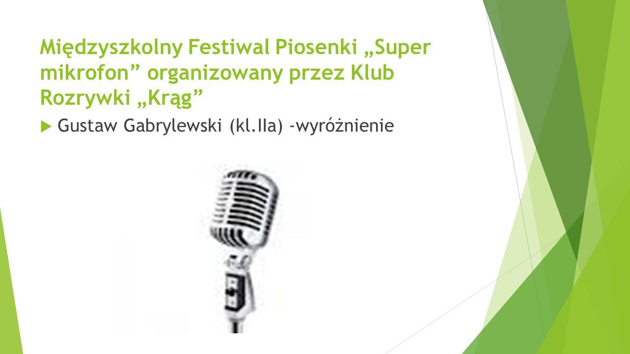 """Międzyszkolny Festiwal Piosenki """"Super mikrofon organizowany przez Klub Rozrywki """"Krąg"""