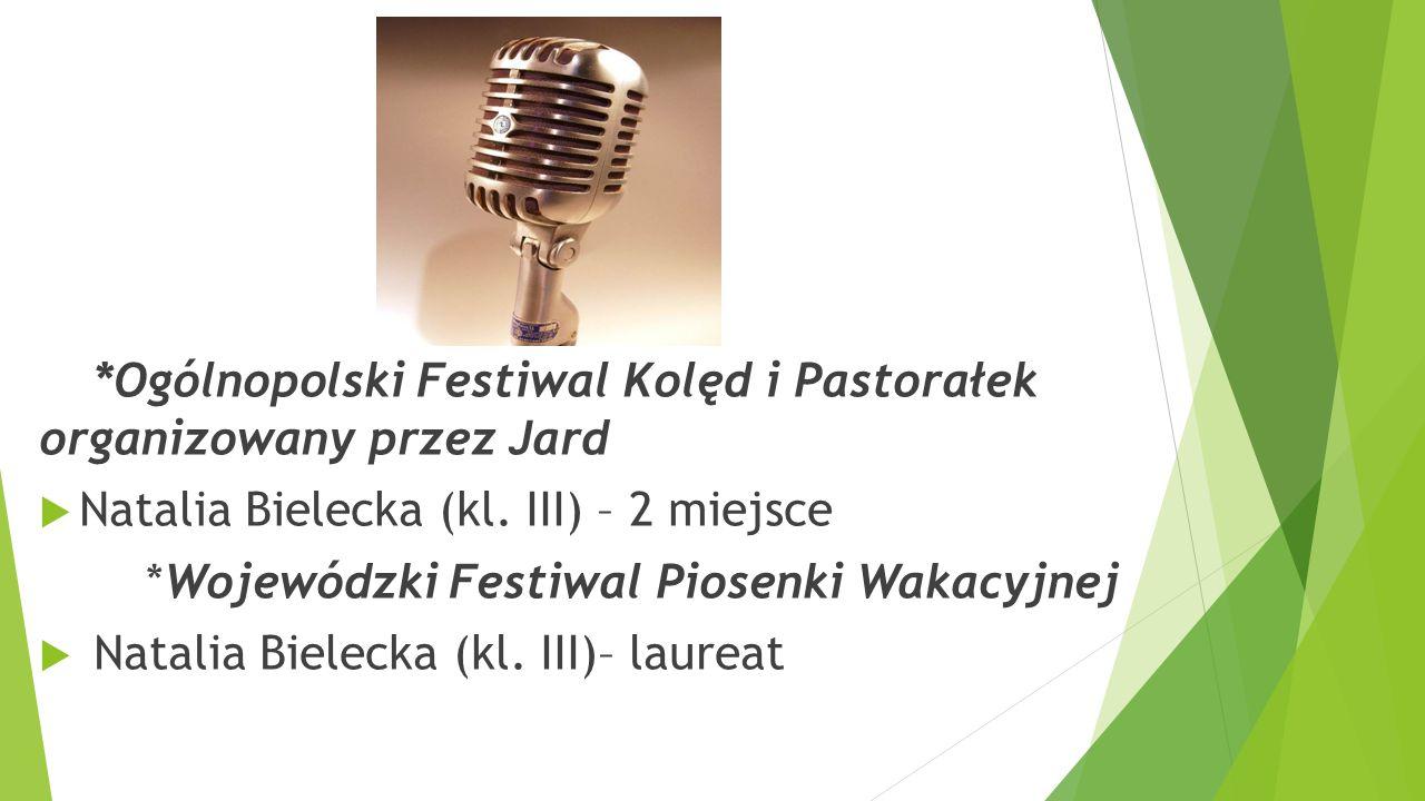 Natalia Bielecka (kl. III) – 2 miejsce