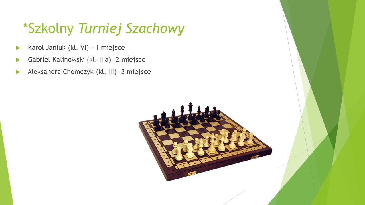 *Szkolny Turniej Szachowy