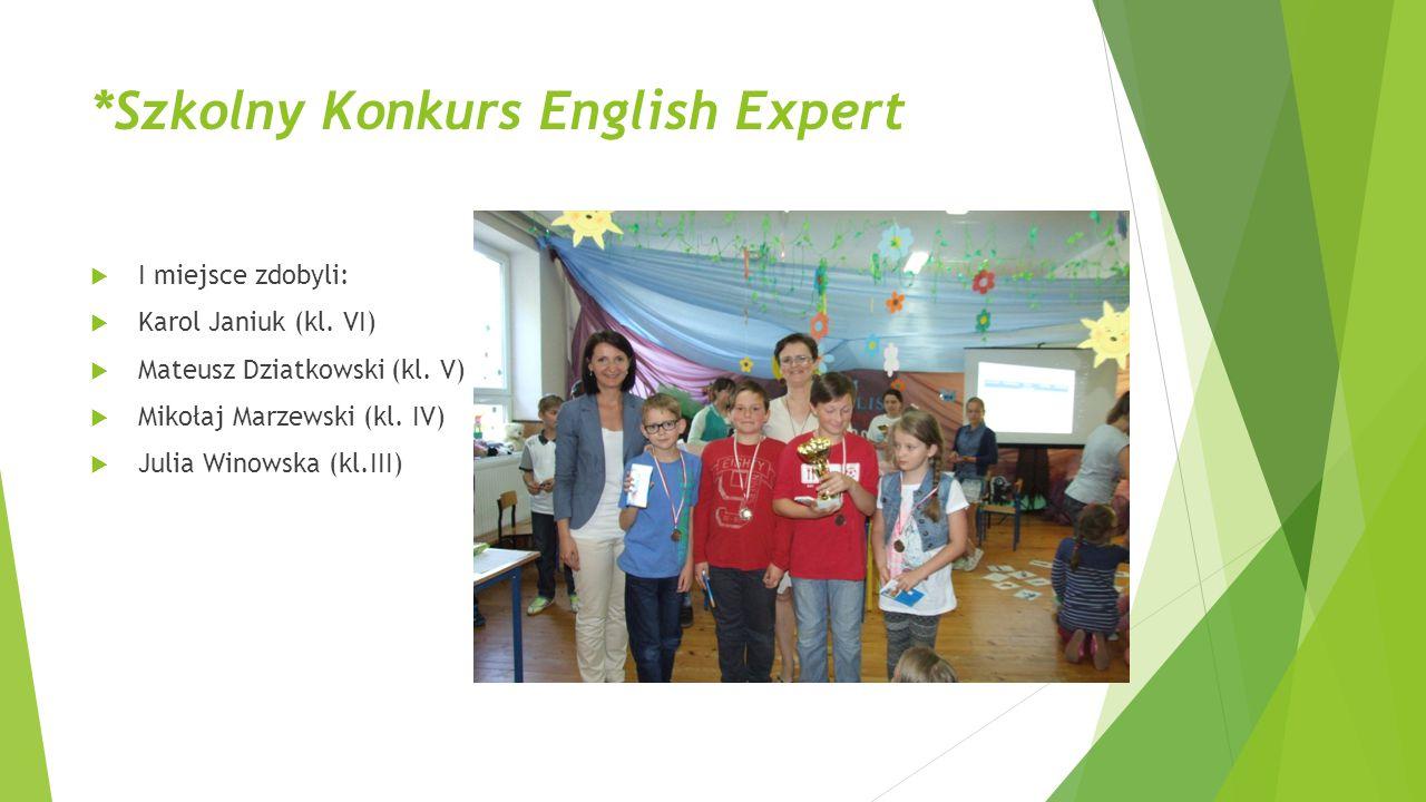 *Szkolny Konkurs English Expert
