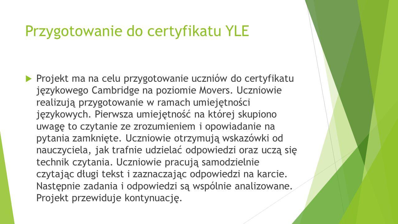 Przygotowanie do certyfikatu YLE