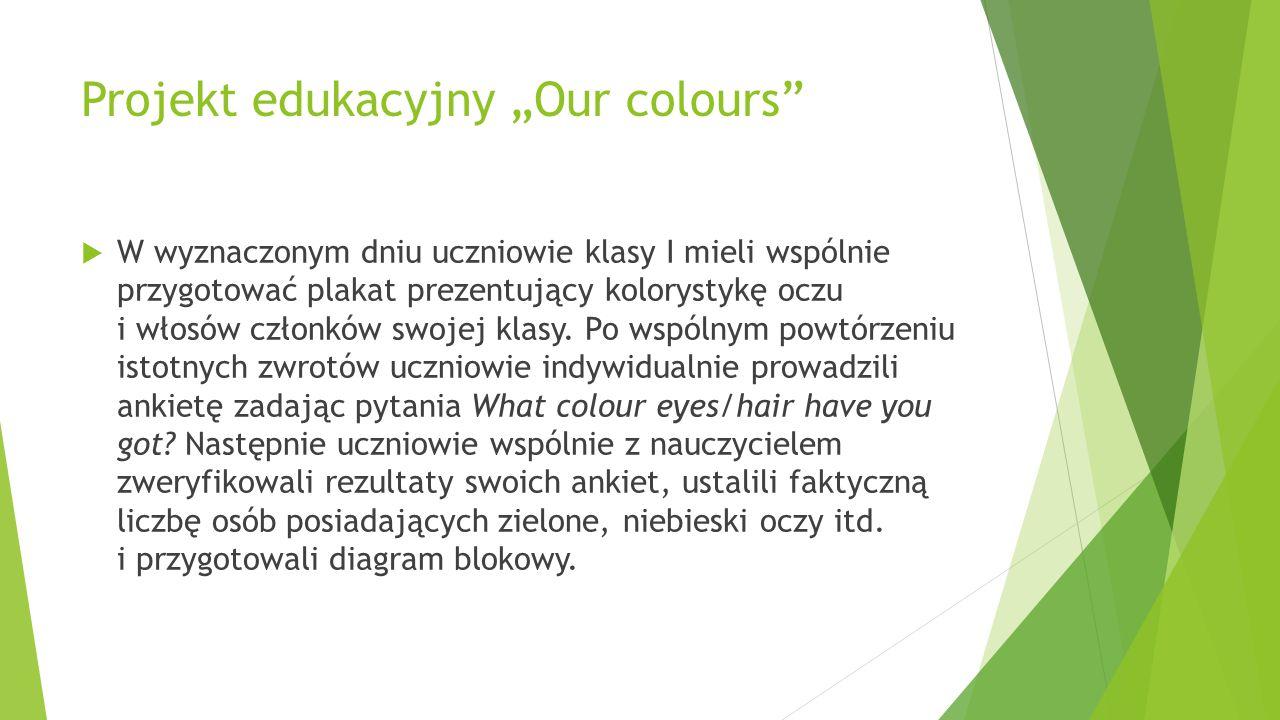 "Projekt edukacyjny ""Our colours"