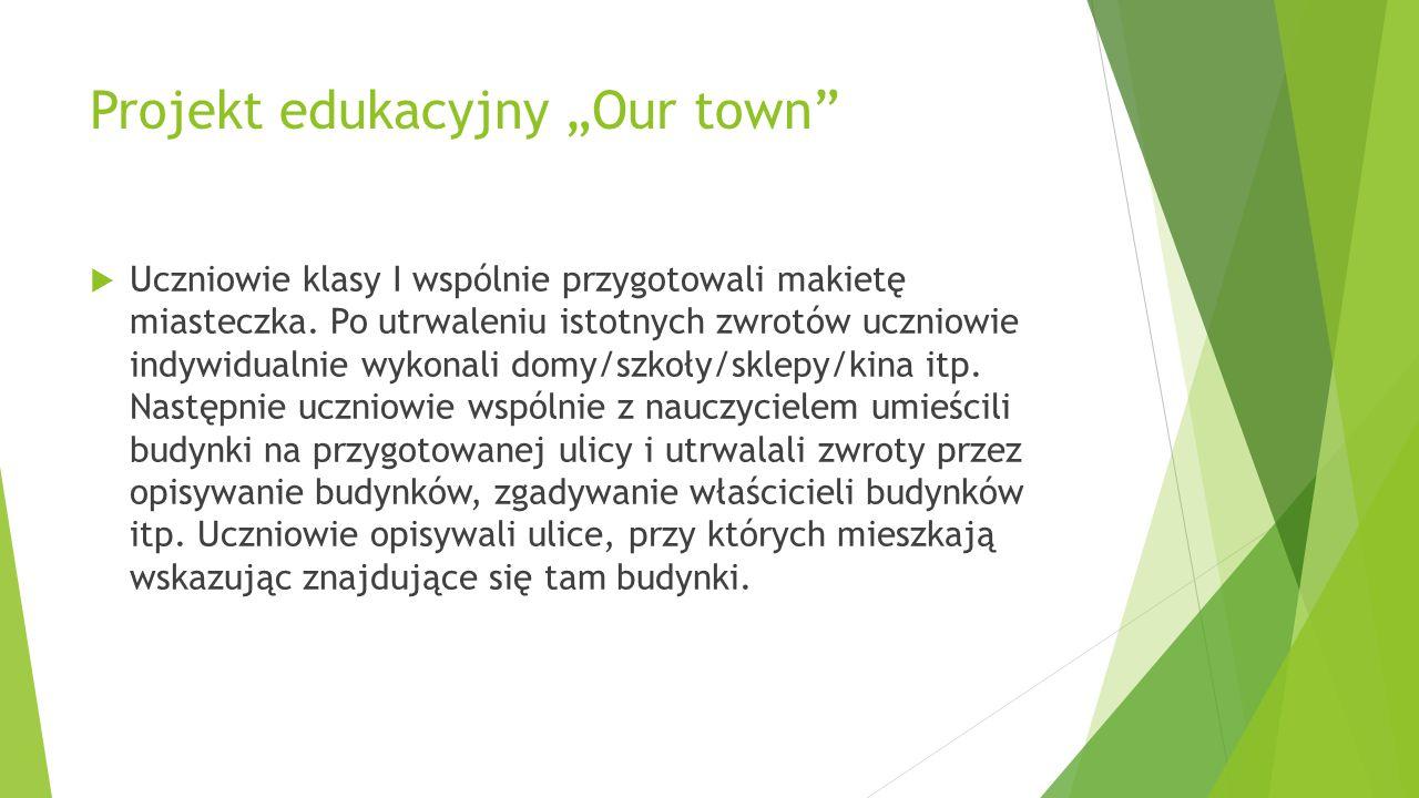 """Projekt edukacyjny """"Our town"""