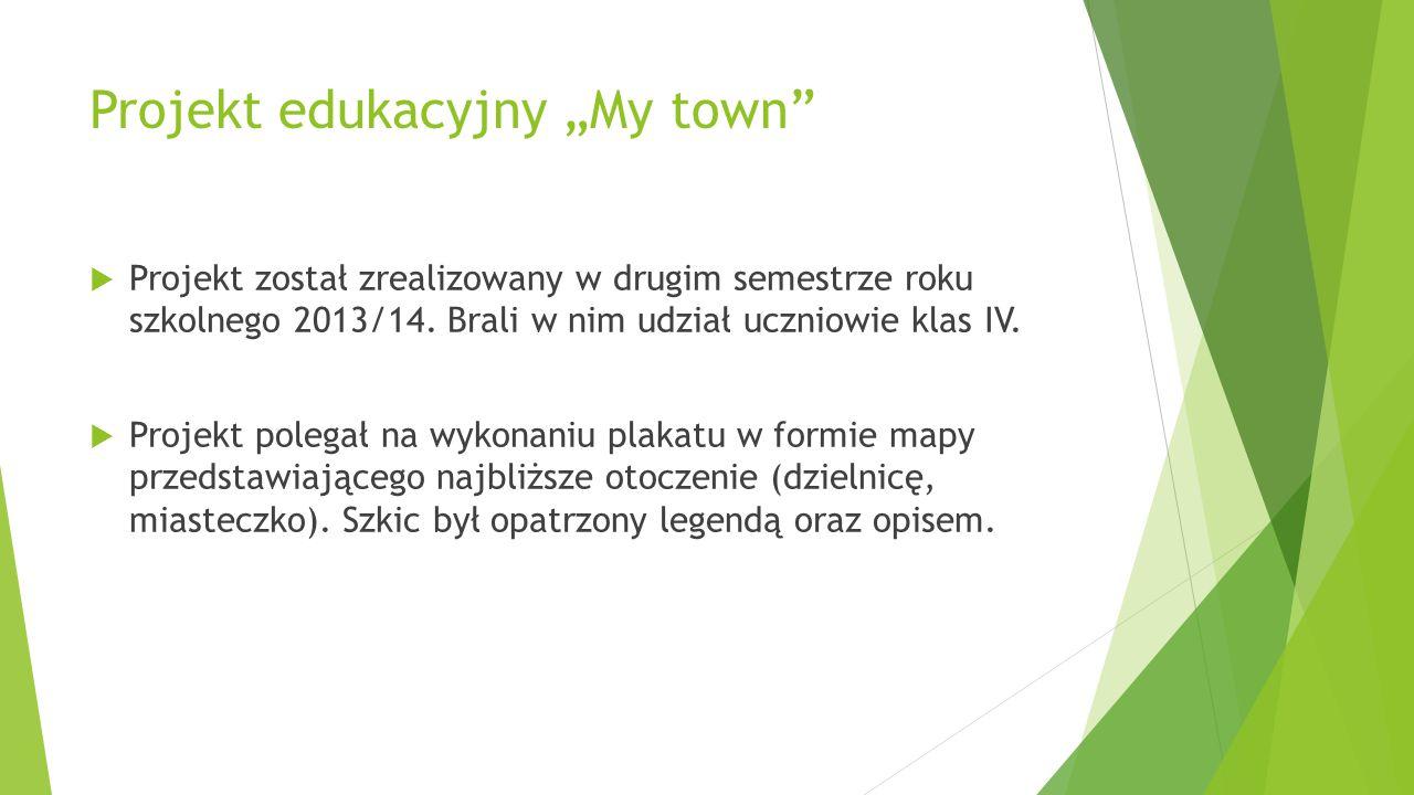 """Projekt edukacyjny """"My town"""