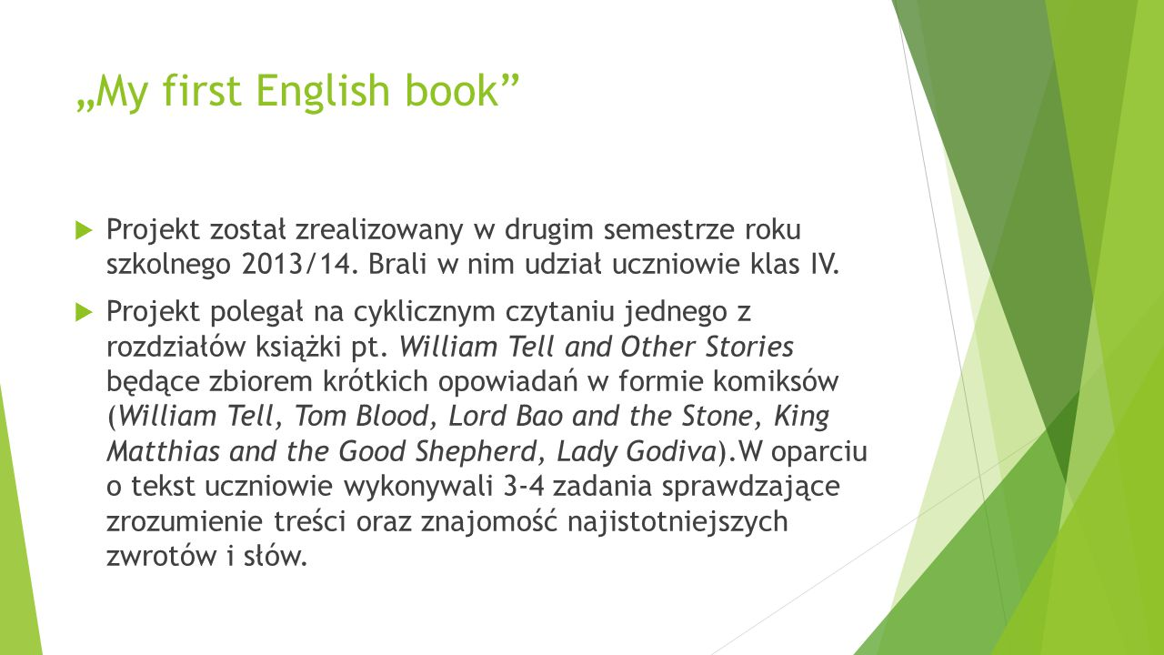 """My first English book"