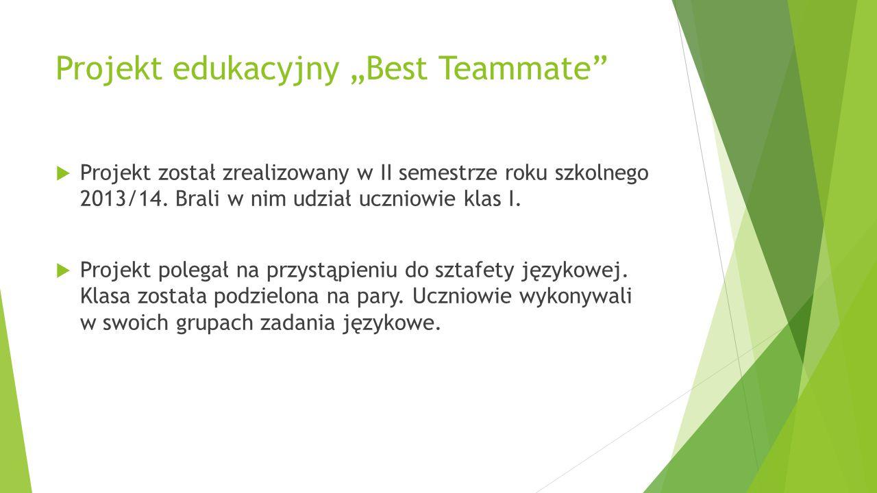 "Projekt edukacyjny ""Best Teammate"