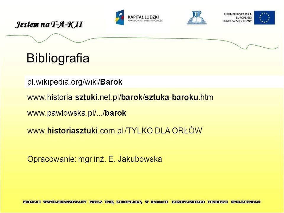 Bibliografia pl.wikipedia.org/wiki/Barok